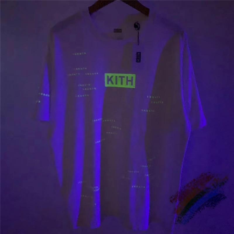 Streetwear 3M Reflective Kith T Shirt Men Wome 1:1 Top Quality KITH Top Tees Streetwear T-shirt Tshirt