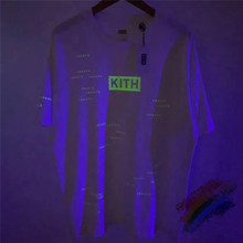 Streetwear 3M Reflective Kith T shirt Men Wome 1:1 Top quali