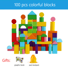 Raw Wood Children #8217 s Wooden Building Block Assembled Toys Puzzle No Paint Large Particles 1-2-3 Years Old Children #8217 s Toys For Kid cheap CN(Origin) Can not eat and swallow Birth~24 Months 2-4 Years Building Blocks For Kids High quality beech 0-4 years Polybag