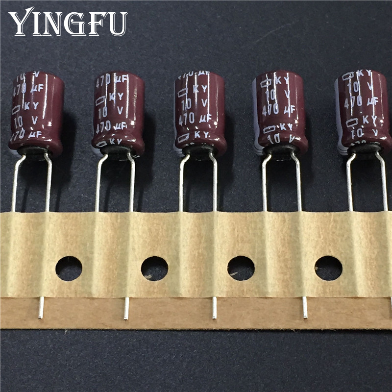 10pcs/Lot 470uF 10V NIPPON NCC KY Series 8x11.5mm Low ESR 10V470uF Aluminum Electrolytic Capacitor