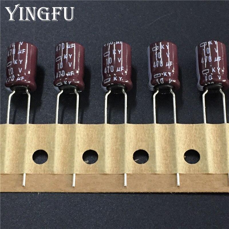 100pcs 470uF 10V ELNA RVJ 10X10mm 10V470uF SMD Electrolytic Capacitor