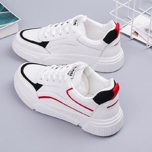 Image 2 - SWYIVY öğrenci ayakkabı kız beyaz Sneakers tıknaz platformu 2020 bahar yeni kadın rahat ayakkabılar Sneakers beyaz Sneaker kadın