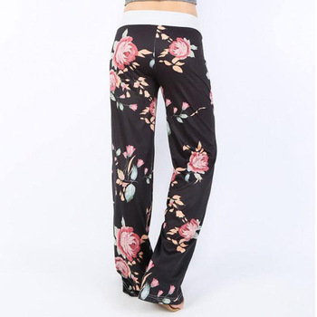 women outfit 2019 two piece set clothes top and pants spring autumn ladies tracksuits korean style plus size fashion lounge wear Lace-Up Sleepwear Pants Plus Size Women Loose Print Pajama Pants Autumn Casual Lounge Wear Home Clothes