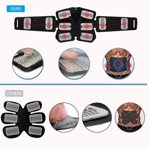 Image 2 - EMS Muscle Stimulator Trainer Smart Fitness Bauch Training Elektrische Gewicht Verlust Aufkleber Körper Abnehmen Gürtel Unisex