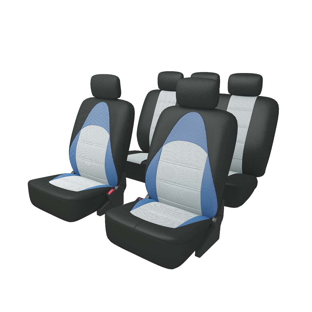 Cushion Cover CARFORT ACTIVE for front and rear seat, fabric, black/blue/gray color stels navigator 550v 18 2016 gray black blue