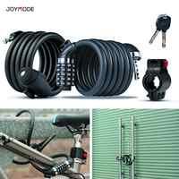 JOYMODE MEN WOMEN 4-Digit Password Lock Mountain Bike Bicycle Code Security Anti-theft Cable Lock Steel Wire Lock 5-door lock