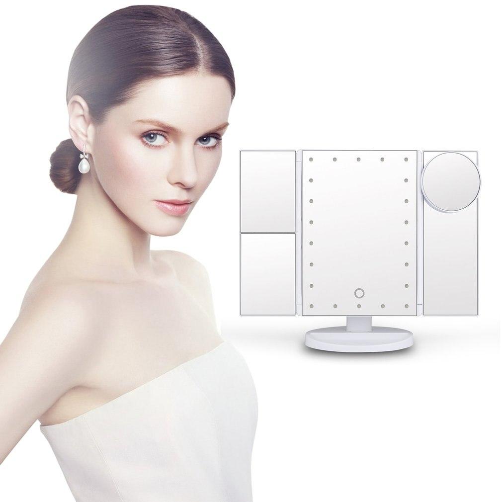 Espelho de maquiagem led com 10x ampliação