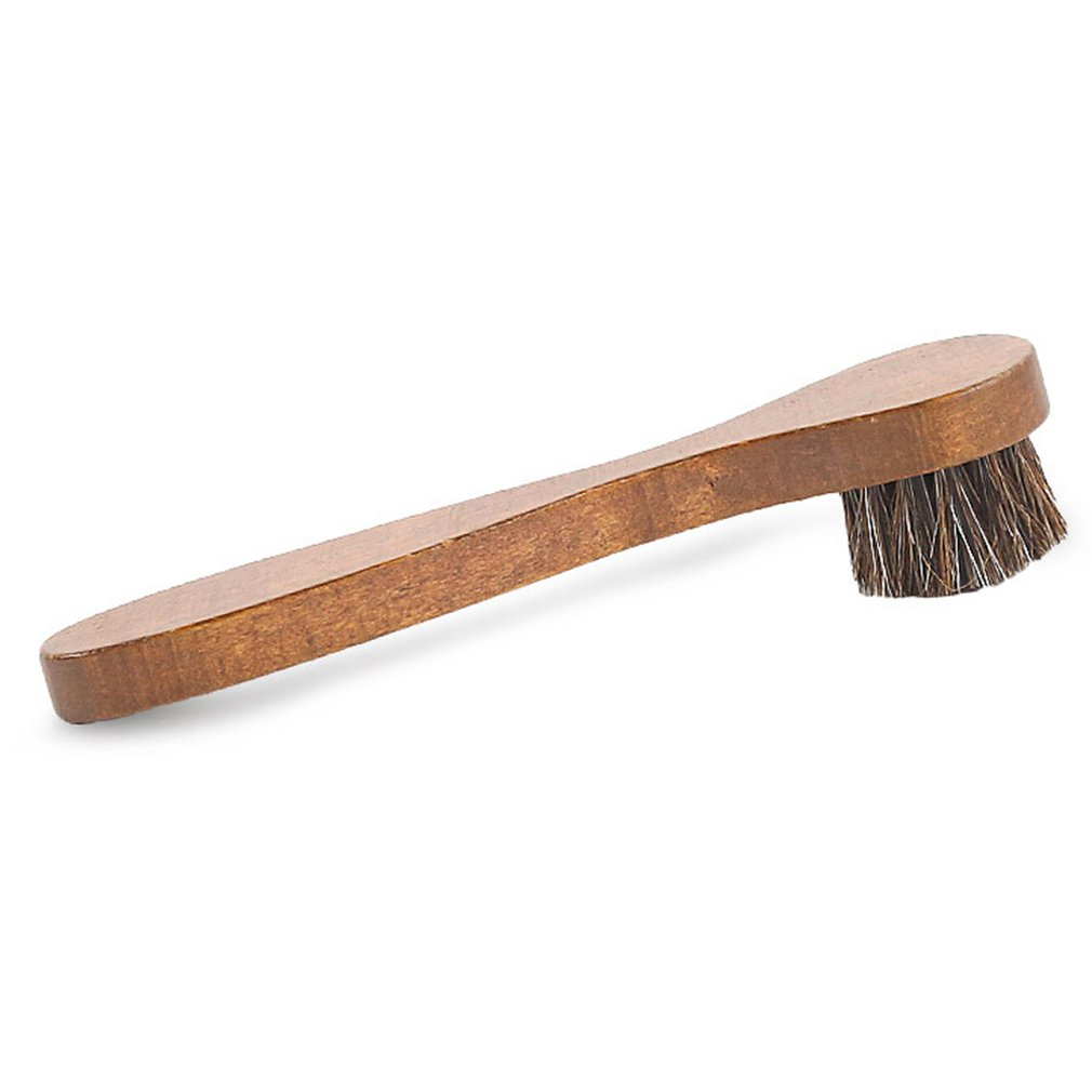 Handle Long Maple Brush Horse Hair Smooth Leather Shoes Special Cleaning Brush Shoes Brush Horse Hair