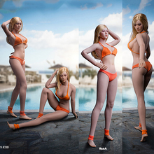 S32A S33B 29.4cm Hight 1/6 Pale /Suntan TBLeague Super Flexible Female Long Leg Seamless Body for Lolita Athena Girl Head