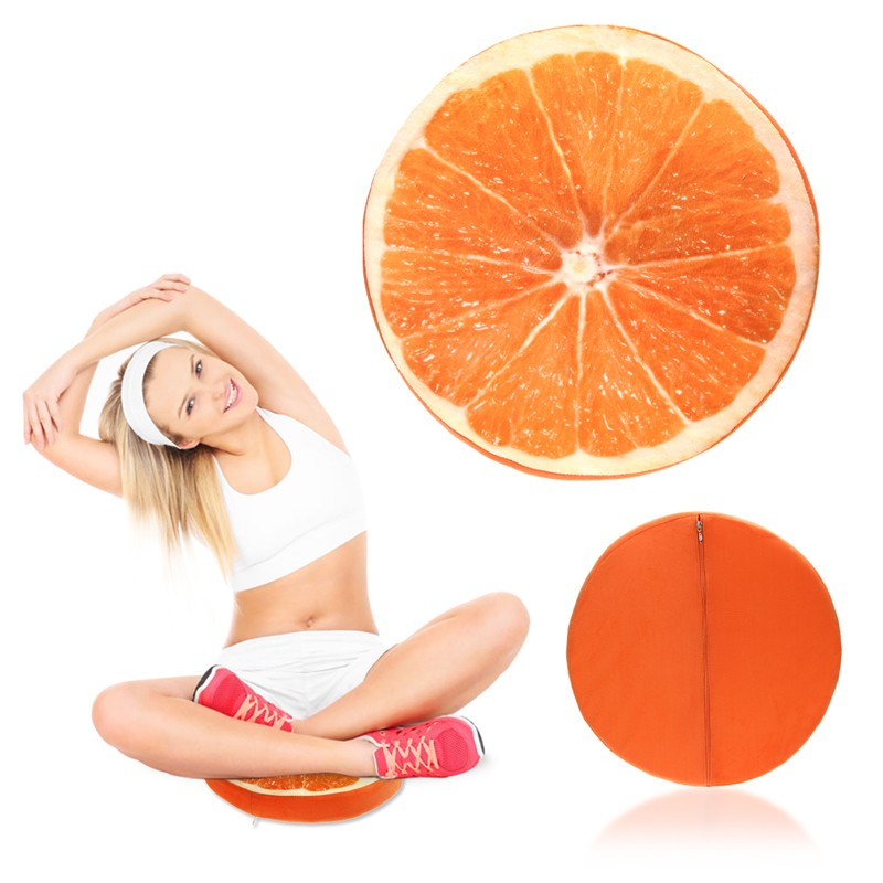 New Product Creative 3D Fruits&Cat Decorative Pillows Cushions Home Decor Sofa Round Nap Seat Cushion Waist Pillow Z