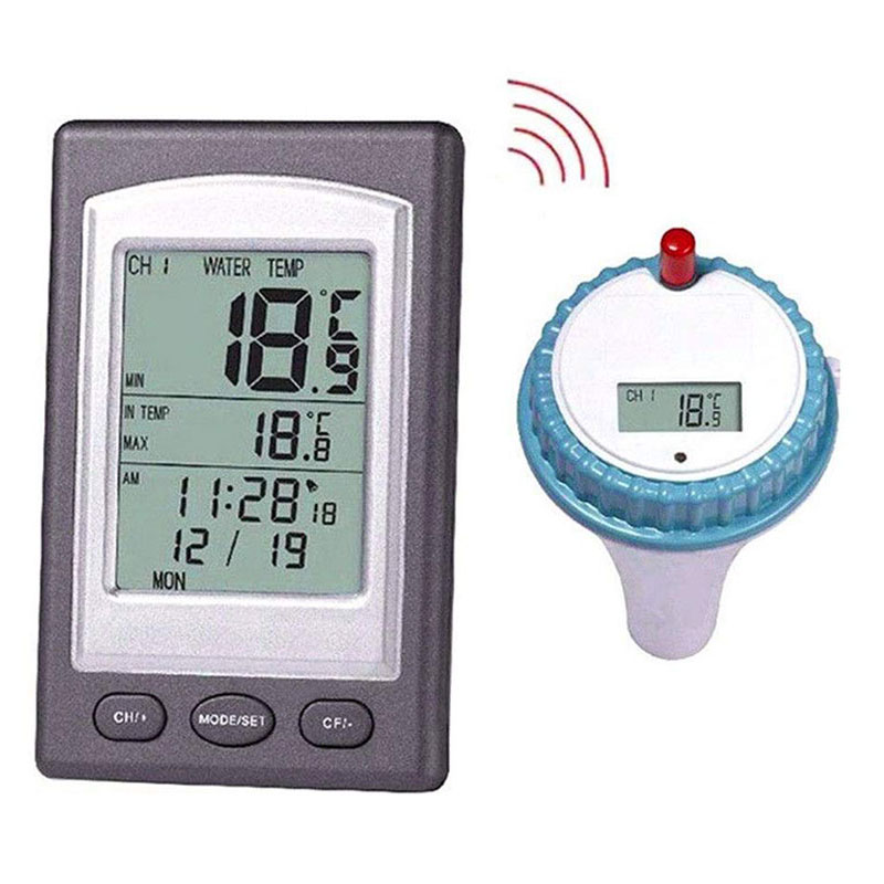 Professional Digital Pool Thermometer Outdoor Hot Hub Spa Pool Wireless Thermometer Swimming Pool Water Temperature Recorder