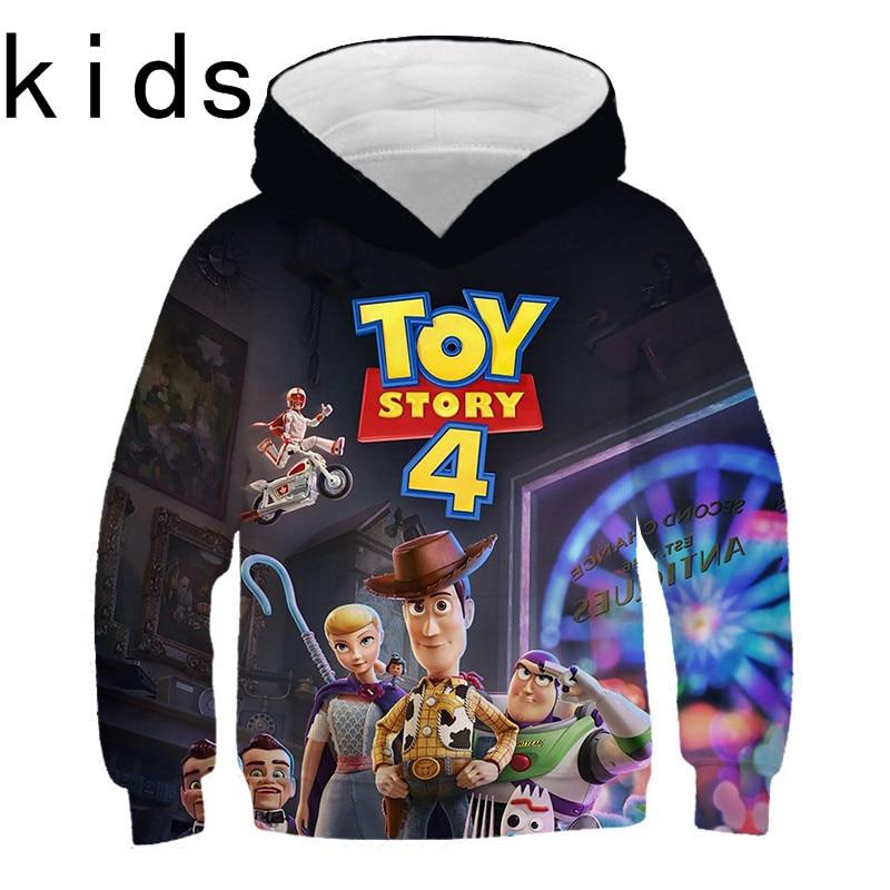 Hot Selling Hoodie Boy/girl Cartoon Movie Toy Story 4 3D Print Hoodies Sweatshirts Casual Harajuku Style Kids Tops