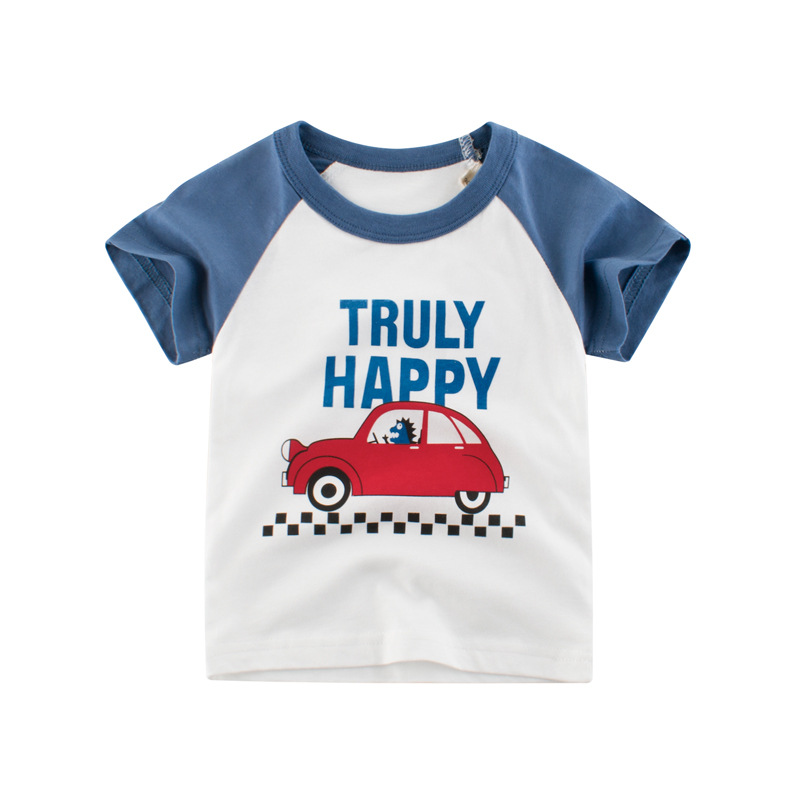 VIDMID Boys t-shirts Cars Short Sleeve T-shirt Kid baby Boys Casual Sport tees Children Summer Dinosaur tops Clothing 4037 05 6