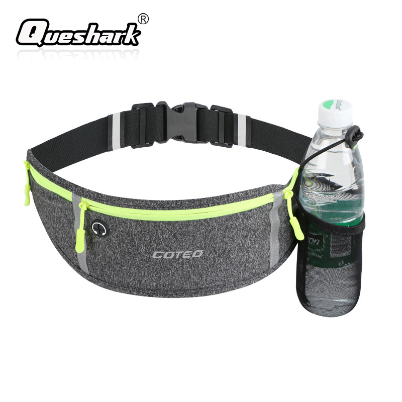 Waterproof Running Waist Bag Outdoor Cycling Sports Waist Pack With Water Bottle Holder Jogging Climbing Fishing Waist Belt Bag