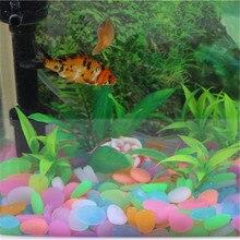 Хороший декор для аквариума светящийся камень ночные камни светящиеся поддельные гальки экологически чистые солнечные украшения для аквариумов