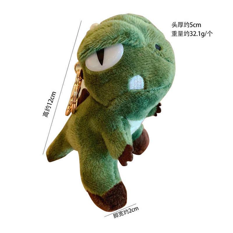 חמוד Cartoon בעלי החיים בפלאש צעצוע Keychain תרמיל Keychain ארוך רגל צפרדע חתול התחת דוב דינוזאור שינה דוב האריה מתנה כדי חבר