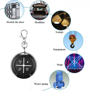 Image 4 - 게이트 무선 rf 4 채널 전기 복제 게이트 차고 문에 대 한 키 체인 433 mhz 원격 제어 컨트롤러