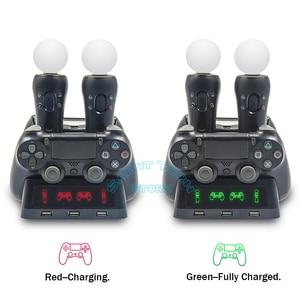 Image 3 - 最新PS4 ps移動vr psvrジョイスティックゲームパッド充電器スタンドコントローラ充電ドックps vr移動ps 4ゲームアクセサリー