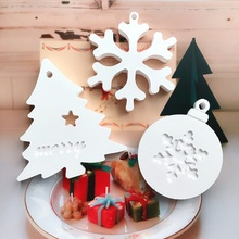 Get more info on the DIY Christmas Cake Mold With Hanging Holes Household Christmas Elements Pattern Fondant Mold Kitchen Cake Decorating ToolsCM