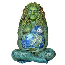 Statue de Gaia millenium en résine, déesse de la terre mère, décoration de pâques, décoration de chambre pour jardin extérieur