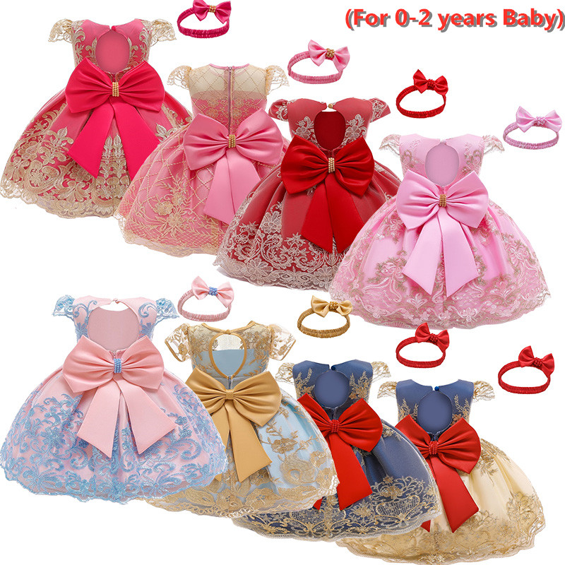 Nouveau-né bébé fille robe princesse fête dentelle fleur Tutu robe bébé fille 1 2 ans anniversaire fête robe enfant en bas âge fille robe 12M