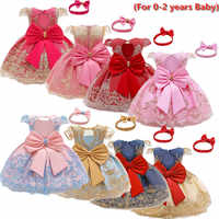 Vestido de princesa para niña recién nacida, vestido tutú de encaje con flores, vestido de fiesta de cumpleaños para niña de 1 a 2 años, vestido de niño niña de 12M