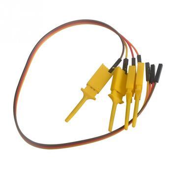 4 шт. логический анализатор кабель зонд Тест Зажим провода крюк тестовый зажим для электронных компонентов 28 см