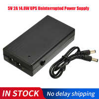 Uninterruptible Power Supply 5V 2A 14.8W Multipurpose Mini UPS Battery Backup Security Standby Power Supply For Camera Router