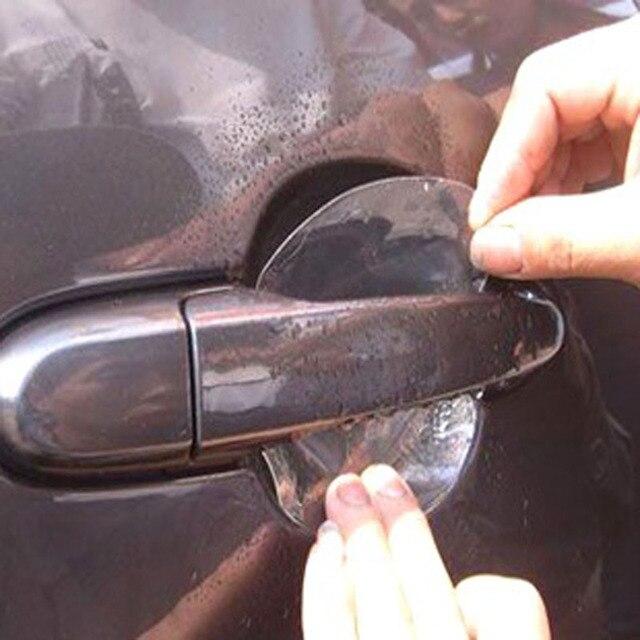 4pcs universal Invisible Car Door Handle Scratches Automobile Shakes Protective Vinyl Protector Films car Handle accessories
