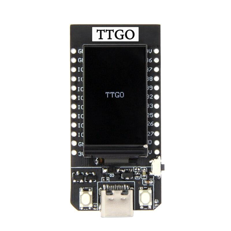 Tüketici Elektroniği'ten Pil Aksesuarları'de Ttgo T Display Esp32 Wifi and Bluetooth Module Development Board for Arduino 1.14 Inch Lcd title=