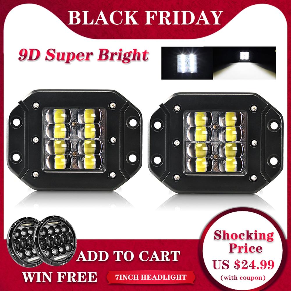 CO LIGHT 9D 80W LED Work Light Bar 5 Strobe Driving Fog Flood DRL Offroad Led Lamp for Trucks SUV ATV