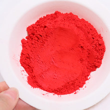 50g Pure Red Pearl Powder Acrylic Paint for Crafts Arts Car Paint Soap Eye Shadow Dye Colorant Chinese Red Mica Powder Pigment(China)