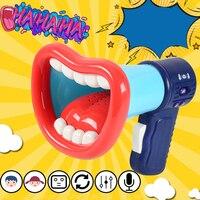 Детские электрические музыкальные игрушки на батарейках, легко наносятся, многофункциональные записывающие детские забавные громкоговор...