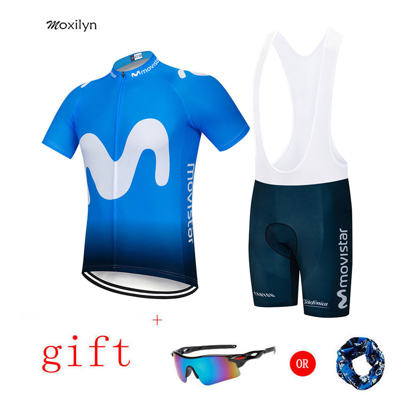 Moxilyn 2019 Pro Team Cycling Jersey Set Cycling Clothing Bike Jersey Ropa Quick Dry Mens Bicycle Summer 9D GEL Pad Bike Shorts Cycling Sets     - title=