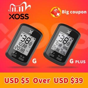 Image 1 - XOSS bisiklet bilgisayar G + artı kablosuz GPS kilometre sayacı su geçirmez yol döngüsü MTB bisiklet Bluetooth ANT + Sprint bisiklet hız göstergesi