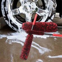 ポータブルppハンドル羊毛ブラシホイールタイヤブラシフレキシブルユニバーサル洗車ホイールブラシ車のクリーニングブラシ洗車ホイールクリーナー洗浄