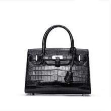ouluoer new Nile crocodile women bag lady black handbag hand carry for niche light luxury customization