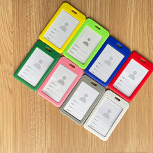 ID Card Holder Lanyard Badge Holder Name Identification Sleeve Double Sided Clear Business Exhibit Office School Strap Necklace