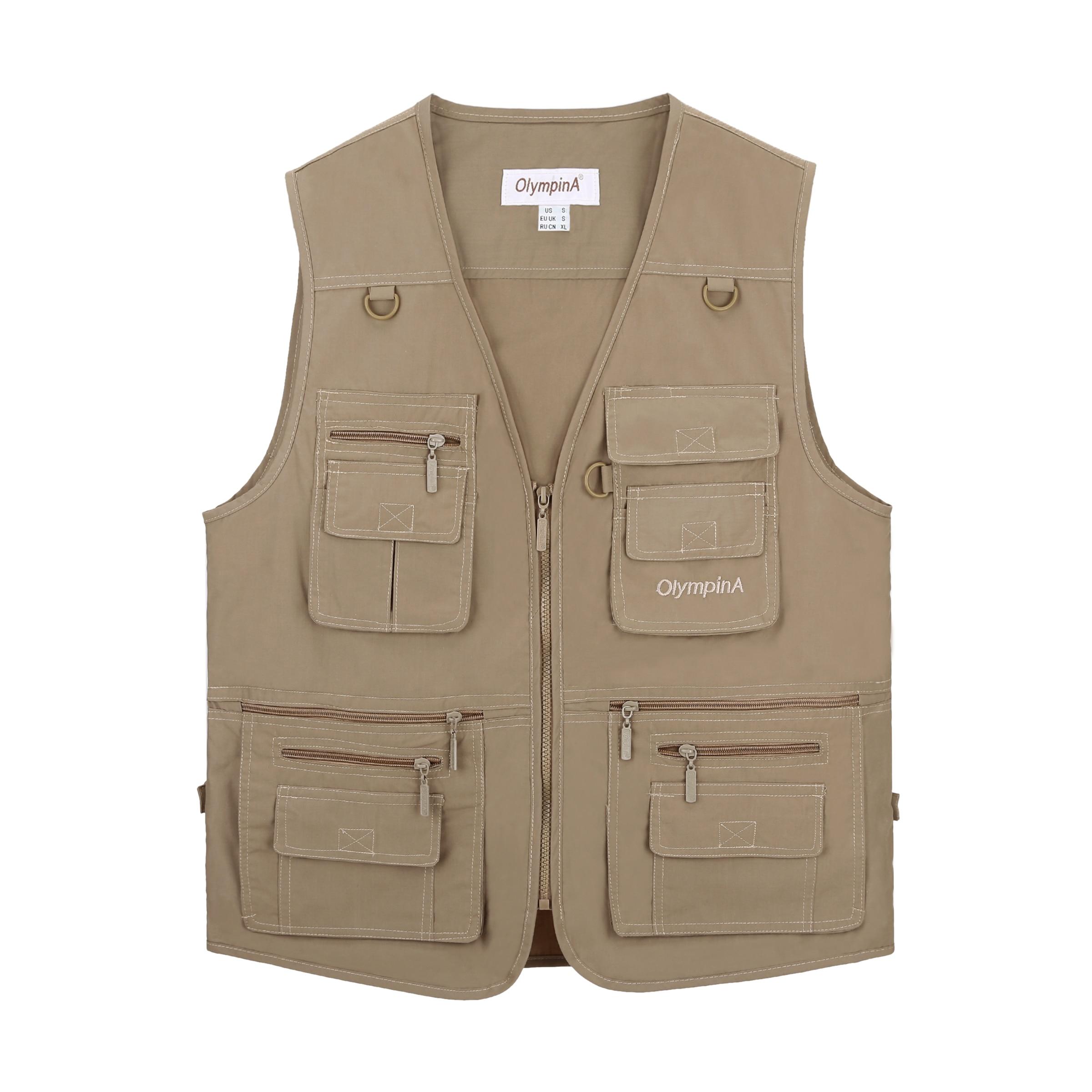 Fishing Vest Men Summer Traveler Sleeveless Jackets Waistcoat Outdoors Casual Vest With Many Pockets Large Size 5XL