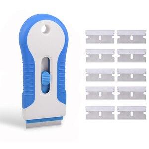 Image 5 - EHDIS – racleur de lame de rasoir, Film de teinte de fenêtre, céramique, four à verre, outil de nettoyage, raclette à pellicule vinylique en Fiber de carbone, dissolvant dautocollants pour voiture