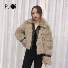 Pudi TX307702 women winter motorcycle Leisure Real sheep fur coat jacket overcoat lady fashion genuine fur coat outwear все цены