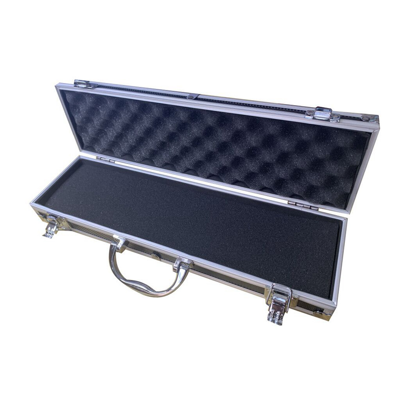 364x100x55mm Aluminum Alloy Toolbox Suitcase Impact Resistant Safety Instrument Case Storage Box With Sponge Lining