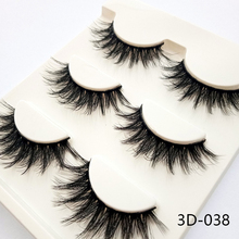 3D Natural Long Fake Eye Lashes Handmade Thick False Eyelashes Black natural faux mink lashes false eyelashes make up
