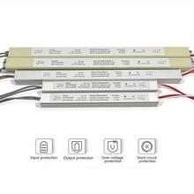 Ультра тонкий светодиодный источник питания 12 В 18 Вт 25 Вт 36 Вт 48 Вт 60 Вт Трансформаторы освещения AC110-220V драйвер для Светодиодный рекламных лент