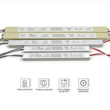 Ultra Dunne Led Voeding DC12V 18W 25W 36W 48W 60W Verlichting Transformers AC110-220V Driver voor Led Strips Reclamebord(China)