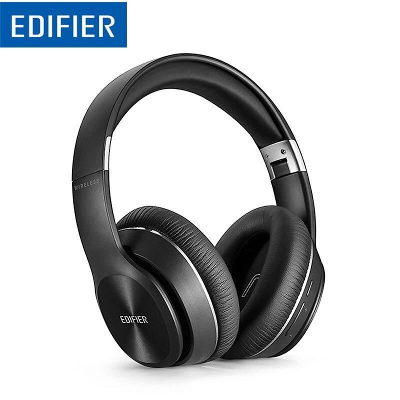 Edifier w820bt bluetooth fone de ouvido sem fio sobre-orelha isolamento de ruído csr tecnologia até 80 horas de tempo de reprodução dobrar facilmente