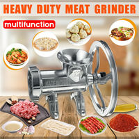 Manual Multi Meat Grinder Mincer Sausage Filler Chopper Pasta Maker Table for Home VJ Drop