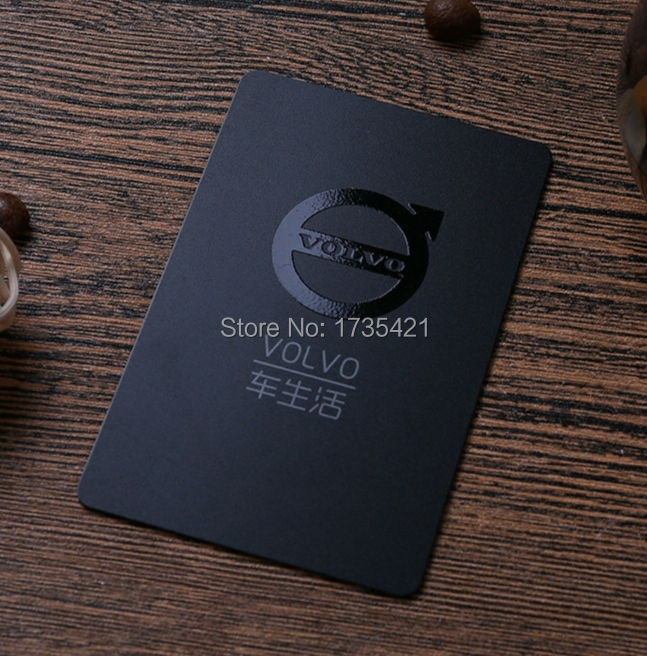 High Quality Matt Surface Finished PVC Plastic Business Visiting Card Plastic Business Card  Spot UV Logo