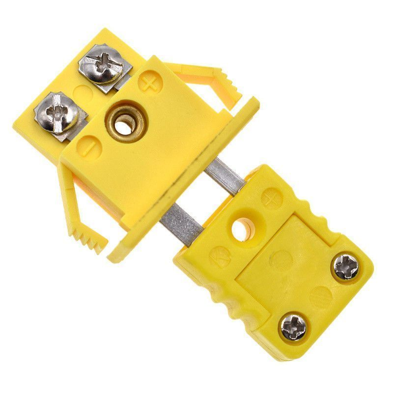 Quality  K-Type Thermocouple Miniature Socket Panel Mount Alloy Plug Connector Yellow Home Garden Supplies