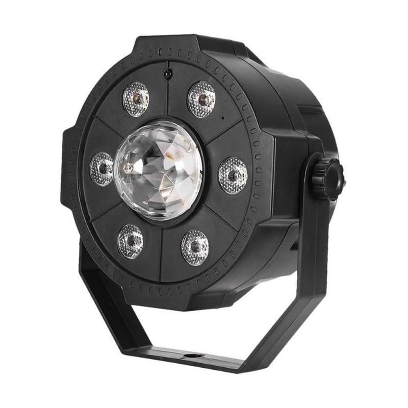 6W LED Disco Ball Stage Lights Rotating 180 Degrees With Remote Control Projector Effect Lamp Light Music Christmas Party